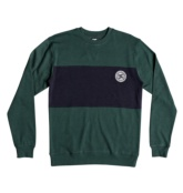 DC SHOES REBEL CREW BLOC HUNTER GREEN