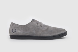 FRED PERRY BYRON LOW SUEDE FALCON GREY/CHARCOAL