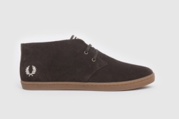 FRED PERRY BOTIN BYRON MID SUEDE DARK CHOCOLATE