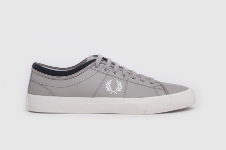 FRED PERRY KENDRICK REVERSES TIPPED CUFF CANVAS SILVER/SNOW WHITE/NAVY