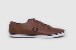 FRED PERRY KINGSTON LEATHER TAN/CARBON BLUE
