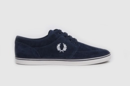 FRED PERRY STRATFORD SUEDE CARBON BLUE/SNOW WHITE