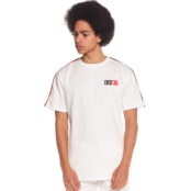 GRIMEY ASHE PIPING TEE WHITE
