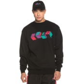 GRIMEY BRICK TOP SATIN LOGO CREWNECK BLACK