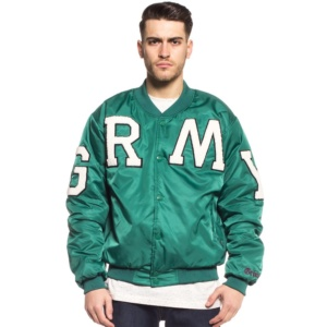 GRIMEY JADE LOTUS SATIN JACKET GREEN