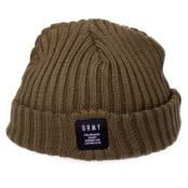 GRIMEY NATURAL FISHER BEANIE FW17 OLIVE