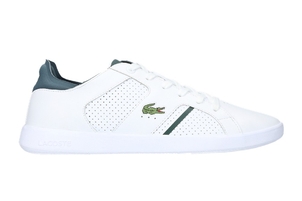 Lacoste NOVAS - Zapatillas white/dark green e4bqYzi7X