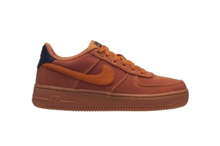NIKE AIR FORCE 1 LV8 STYLE (GS) MONARCH/MONARCH GUM MED BROWN
