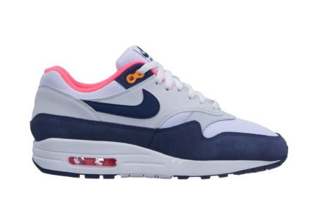 NIKE NIKE AIR MAX 1 PREMIUM WHITE/MIDNIGHT NAVY-PURE PLATINUM