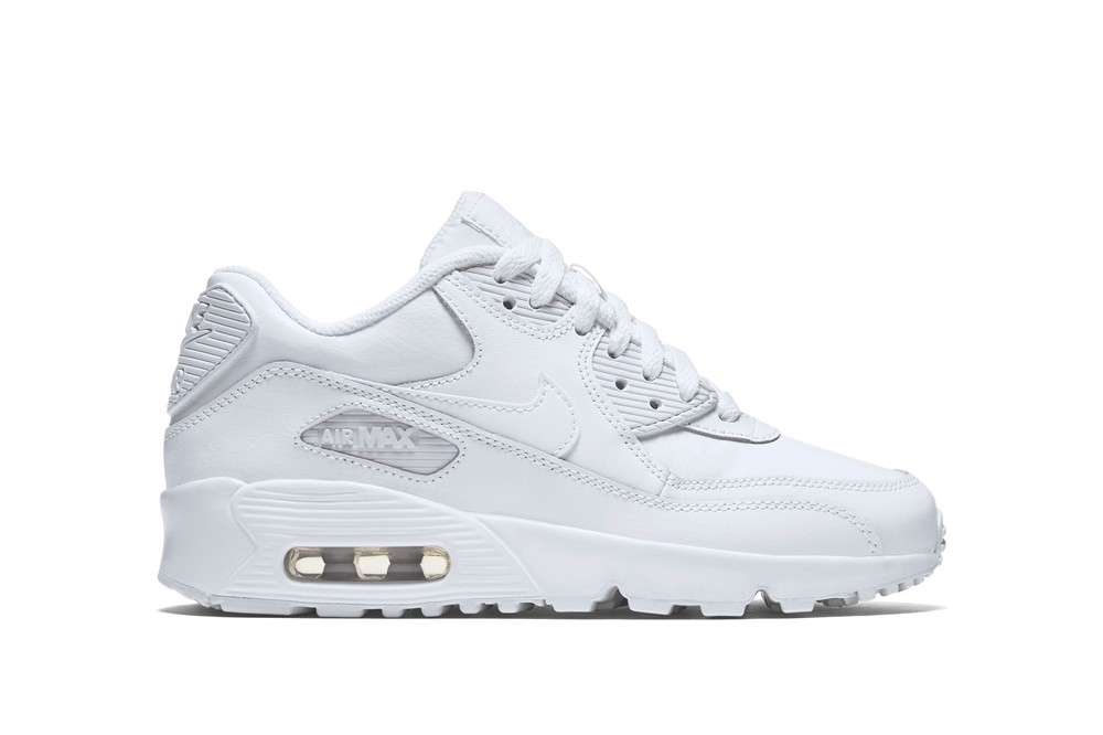 Nike Air Max 90 Leather (Gs) Blanco