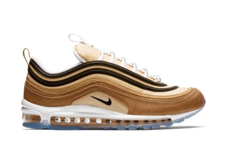 NIKE MEN'S NIKE AIR MAX 97 SHOE ALE BROWN/BLACK-ELEMENTAL GOLD