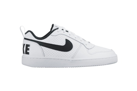 NIKE COURT BOROUGH LOW (GS) BLANCO/NEGRO