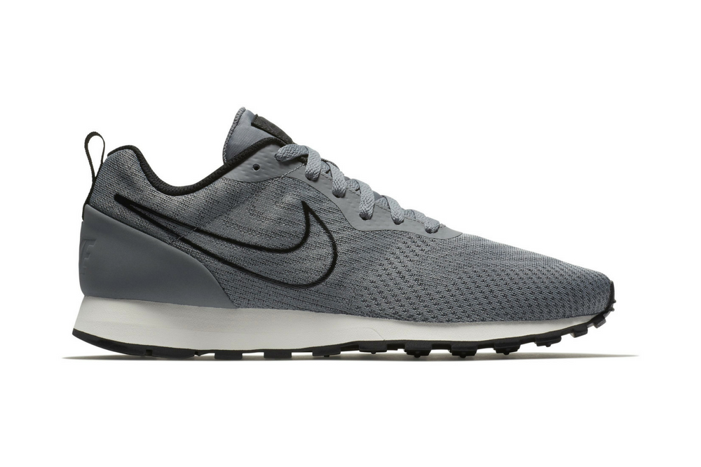 Nike MD Runner 2 Leather - para Hombre, White/Black, Talla 40