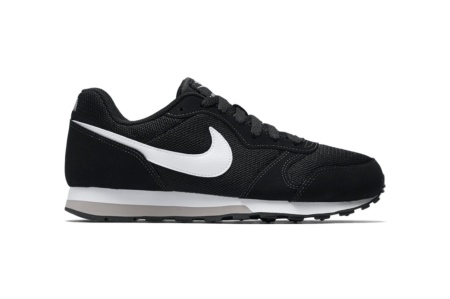half off c8f6d e551f NIKE NIKE MD RUNNER 2 (GS) BLACK WHITE WOLF GREY