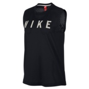 NIKE W NSW TANK MSCL MESH BLACK/LIGHT BONE