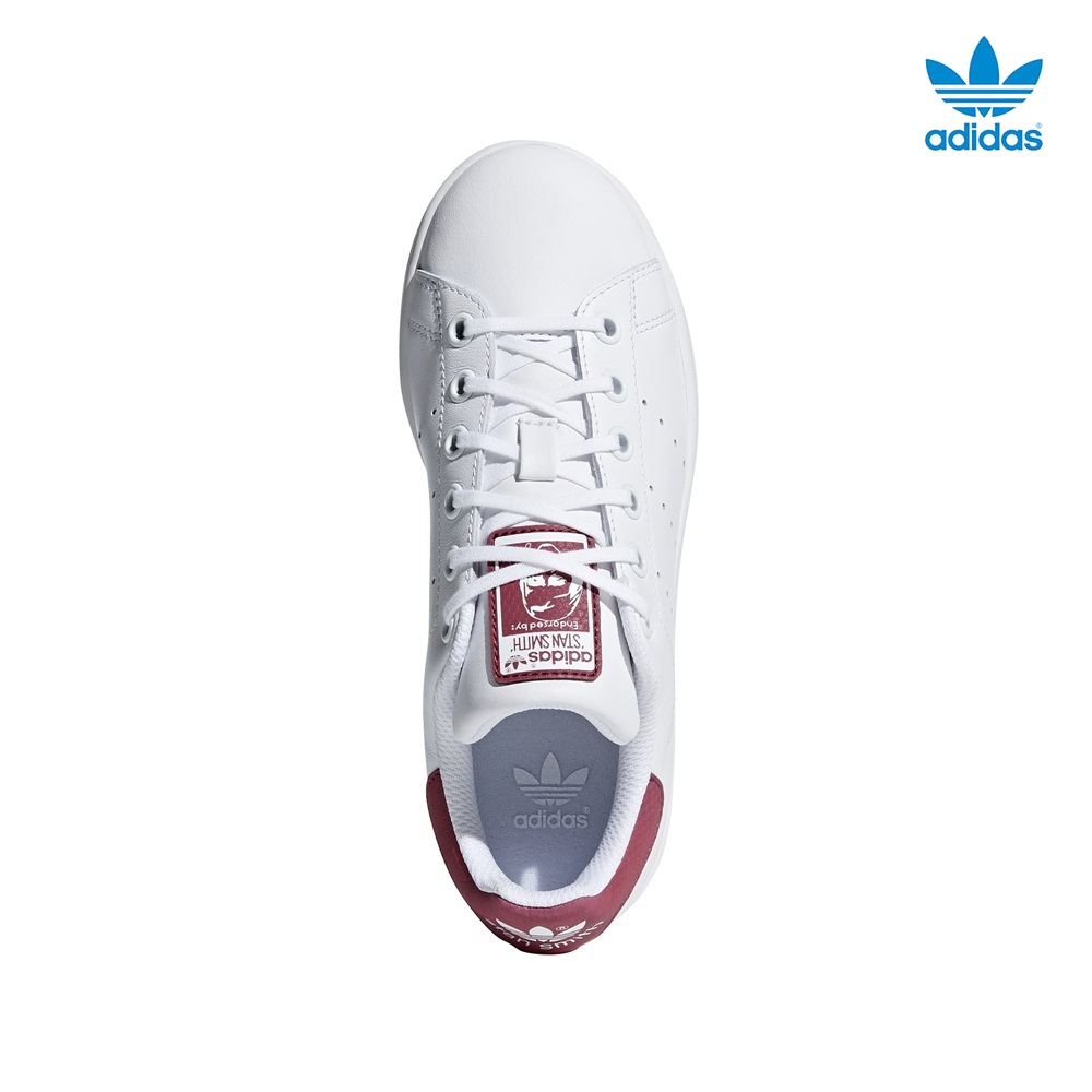 Zapatillas Adidas modelo Stan Smith en color blanco con burdeos para junior