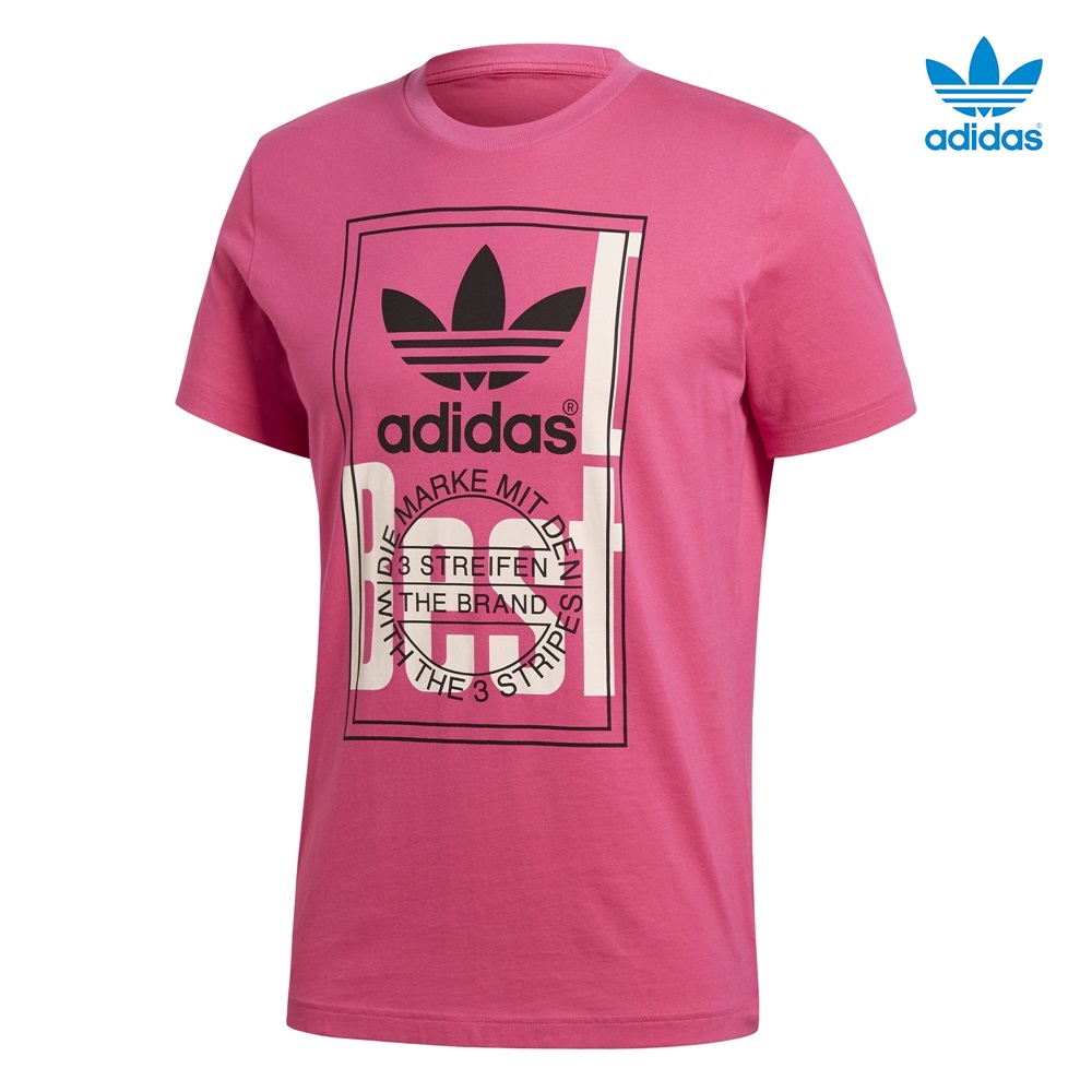 Camiseta ADIDAS modelo Tongue Label en color rosa para hombre-h