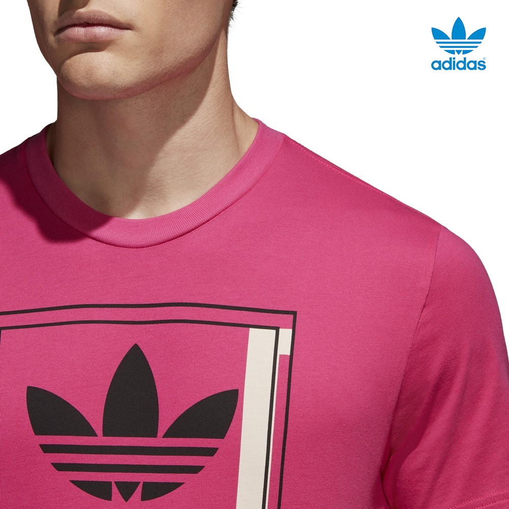 Camiseta ADIDAS modelo Tongue Label en color rosa para hombre-c