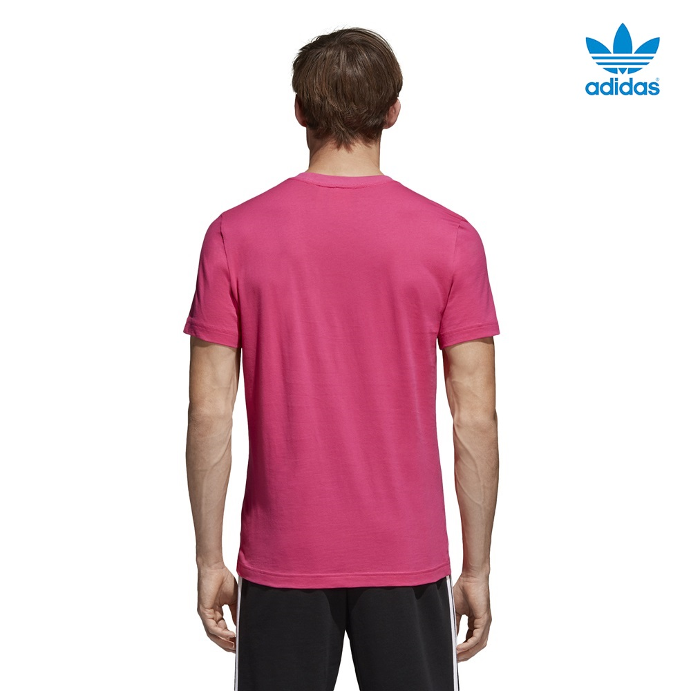 Camiseta ADIDAS modelo Tongue Label en color rosa para hombre-d