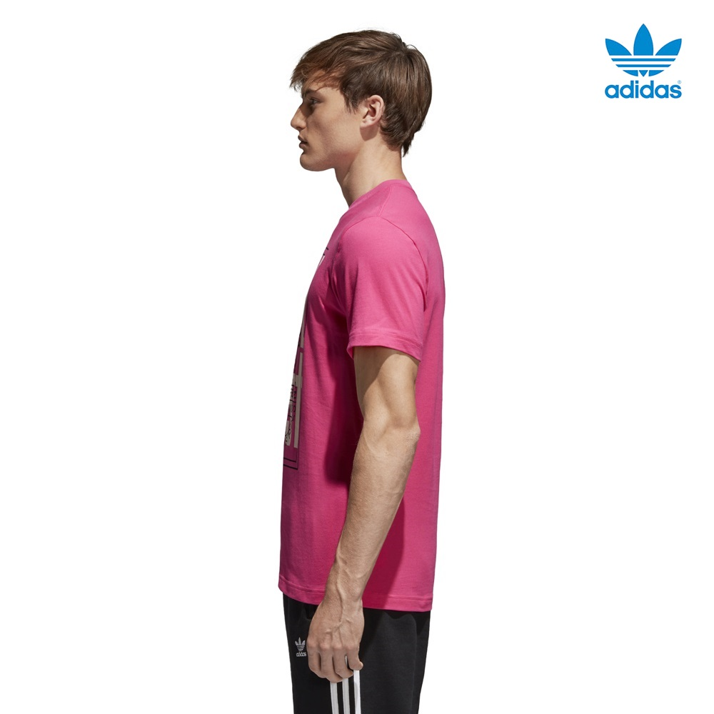 Camiseta ADIDAS modelo Tongue Label en color rosa para hombre-e