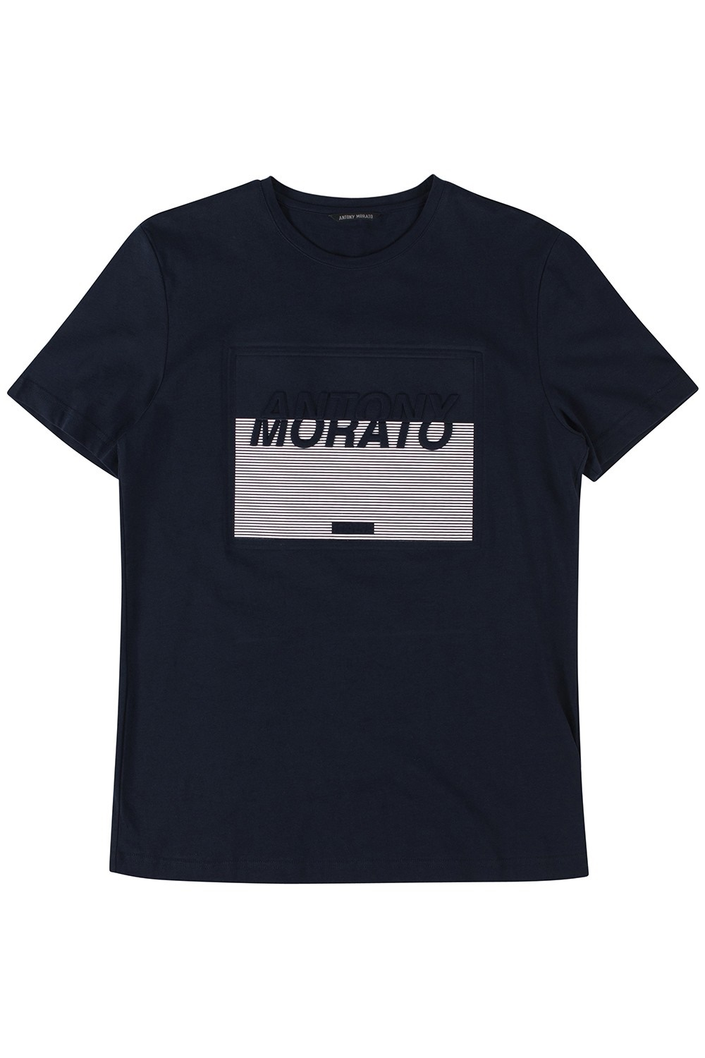 ANTONY MORATO 'T-SHIRT CON STAMPA EMBOSSED AN INK BLU