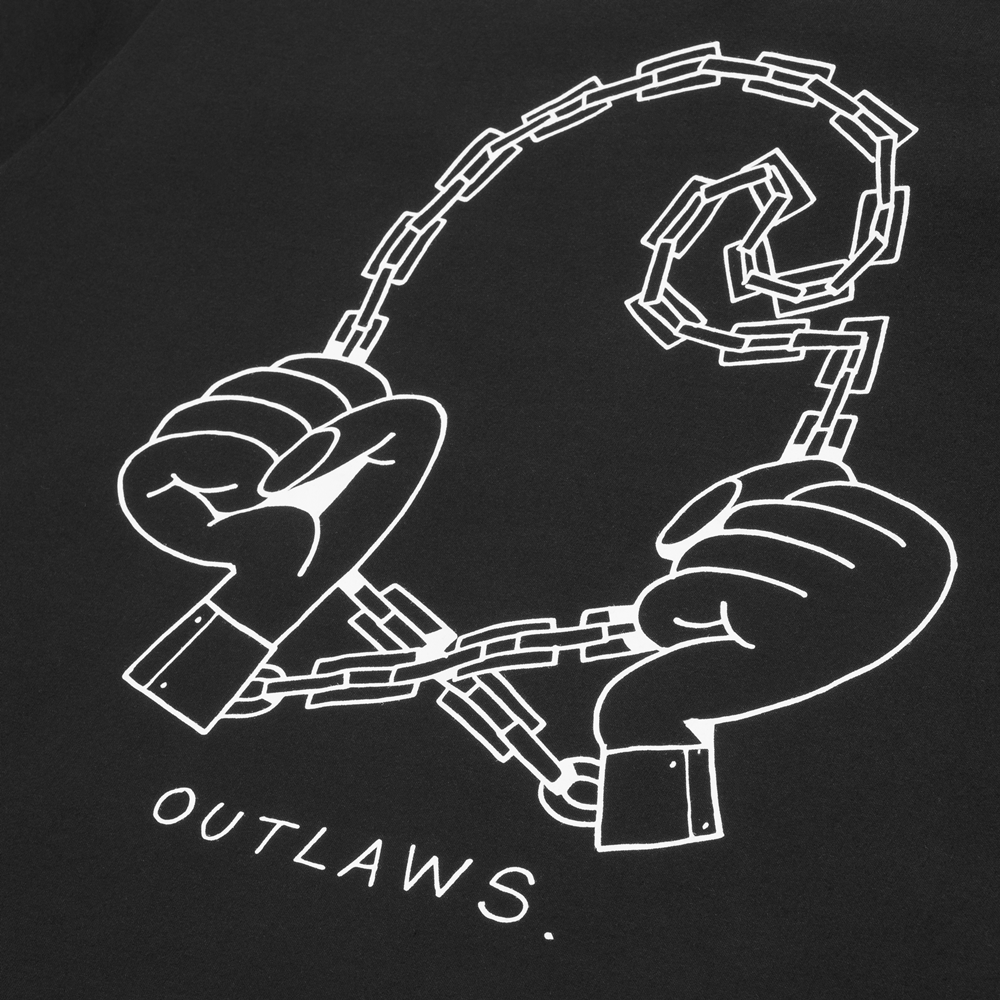 Camiseta Carhartt modelo SS Outlaws en color negro para hombre