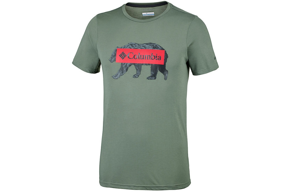 COLUMBIA BOX LOGO BEAR TEE CYPRESS