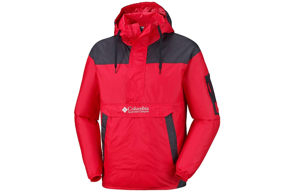 COLUMBIA CHALLEGENGER WINDBREAK MOUNTAIN RED, BLACK