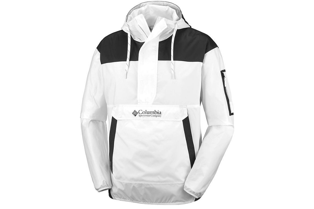 COLUMBIA CHALLENGER WINDBREAKER WHITE, BLACK
