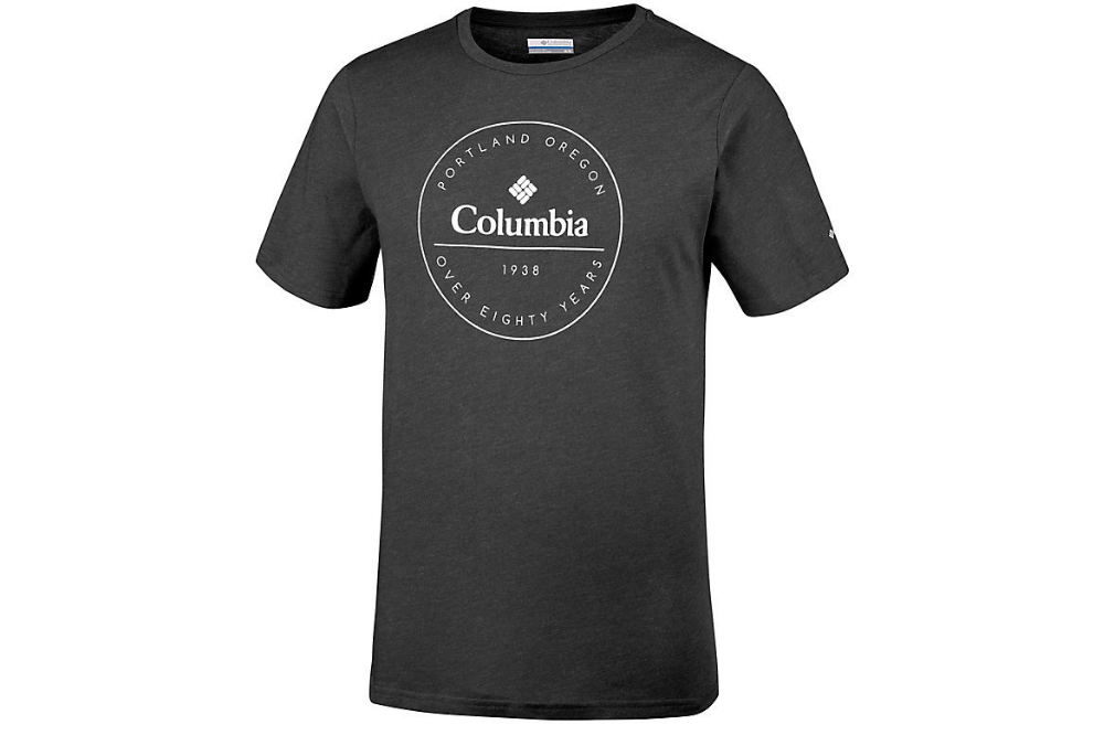 COLUMBIA ONCHAN PARK TEE- BLACK, GRAPHIC