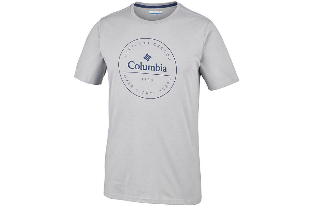COLUMBIA ONCHAN PARK TEE- Columbia Grey Heather, Graphic 2