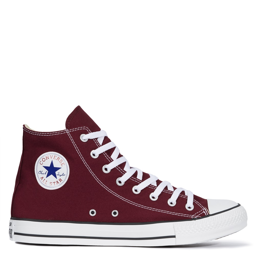 Zapatillas CONVERSE ALL STAR HI en color borgoña-f