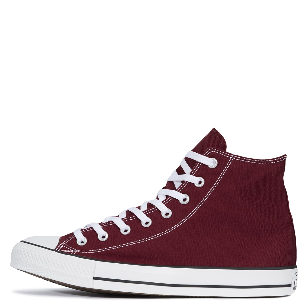 Zapatillas CONVERSE ALL STAR HI en color borgoña-a
