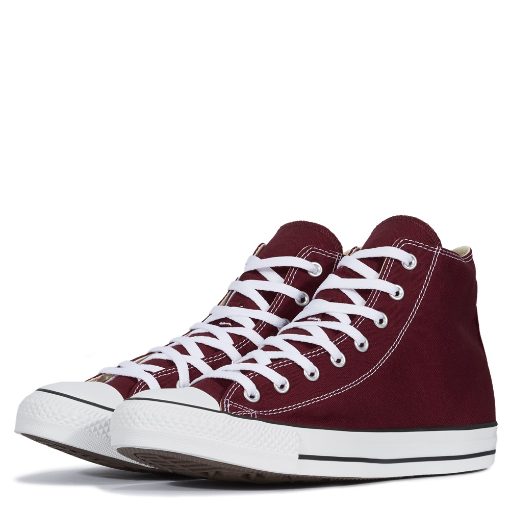 Zapatillas CONVERSE ALL STAR HI en color borgoña-b