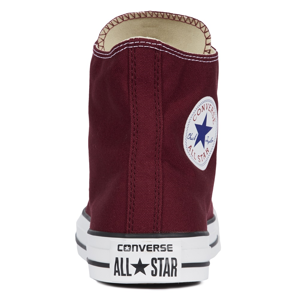 Zapatillas CONVERSE ALL STAR HI en color borgoña-c
