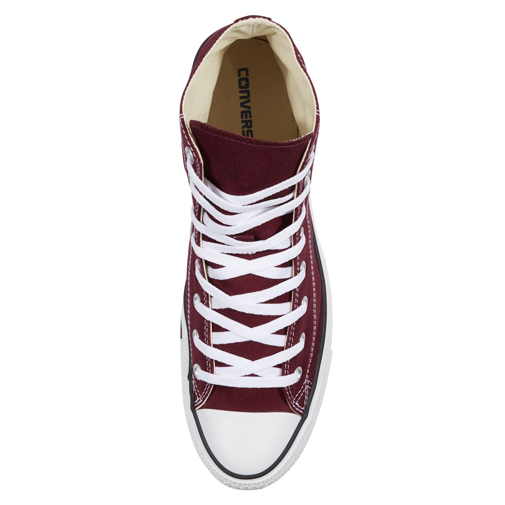 Zapatillas CONVERSE ALL STAR HI en color borgoña-e