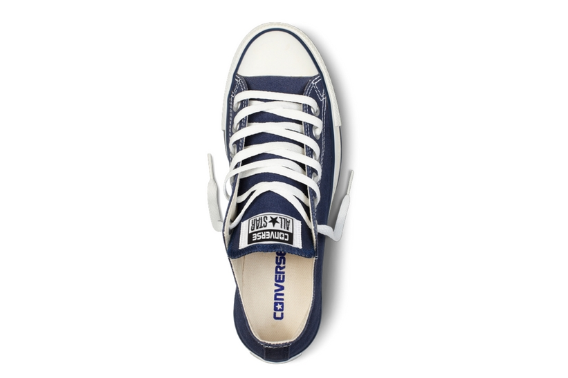 Zapatillas Converse modelo All Star ox en color azul marino-d