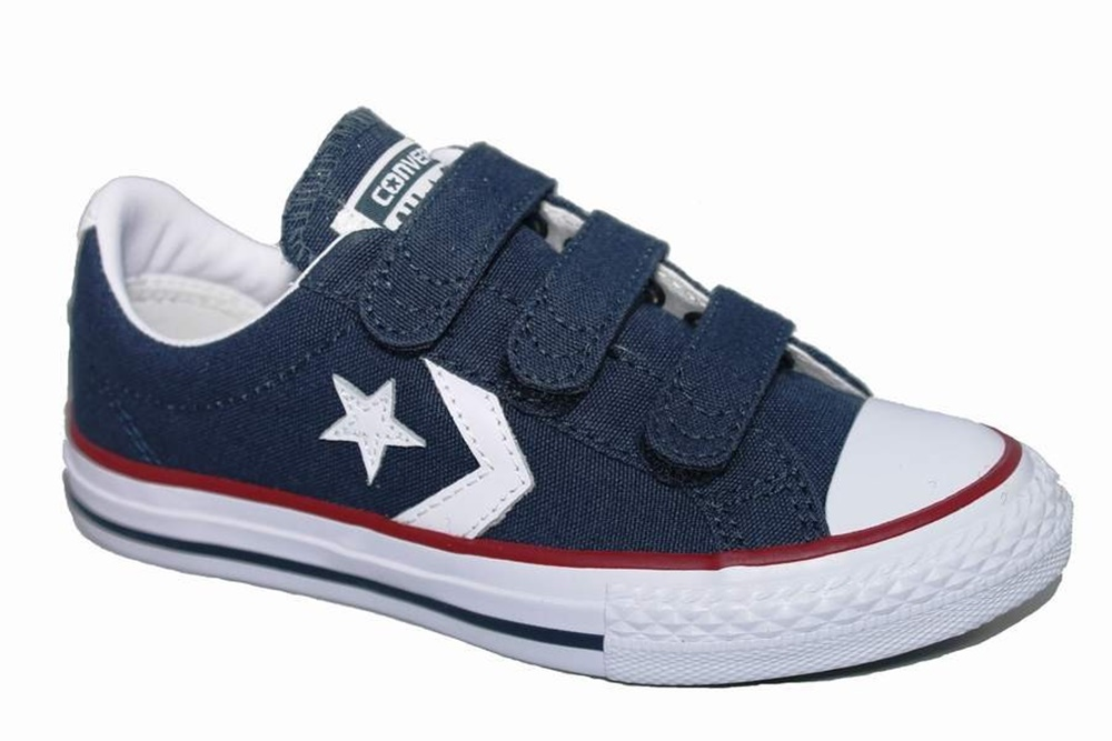 Zapatillas Converse modelo Star Player EV ox en color azul marino para junior-d