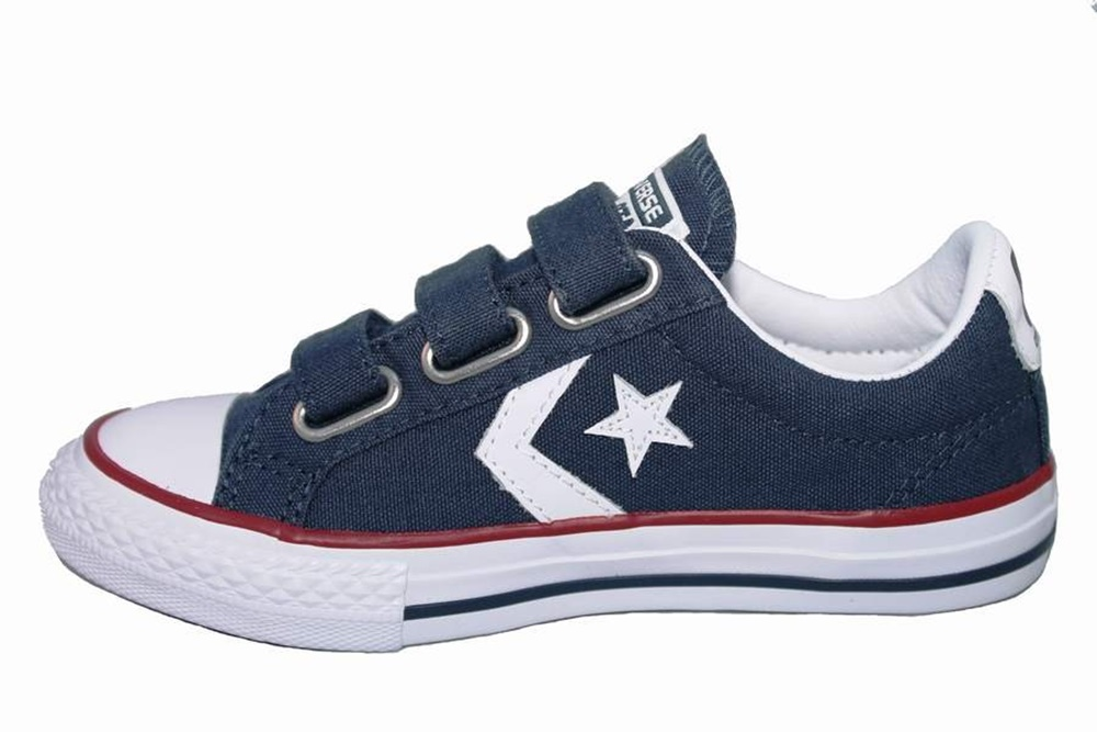 Zapatillas Converse modelo Star Player EV ox en color azul marino para junior-b