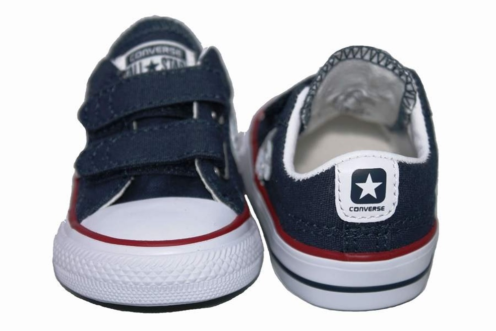 Zapatillas CONVERSE STAR PLYR EV OX NAVY-WHITE baby en color azul.-a