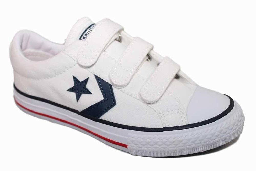 CONVERSE STAR PLAYER EV OX WHT/NVY/RED