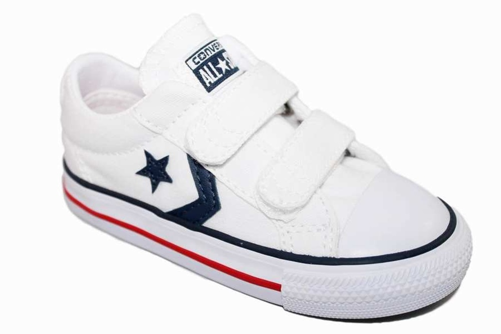 CONVERSE STAR PLYR EV OX WHT/NVY/RED