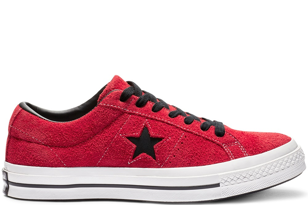 CONVERSE ONE STAR OX ENAMEL RED/BLACK/WHITE