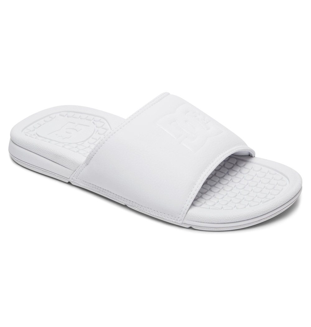 Chanclas Dc Shoes modelo Bolsa SE en color blanco para mujer-d