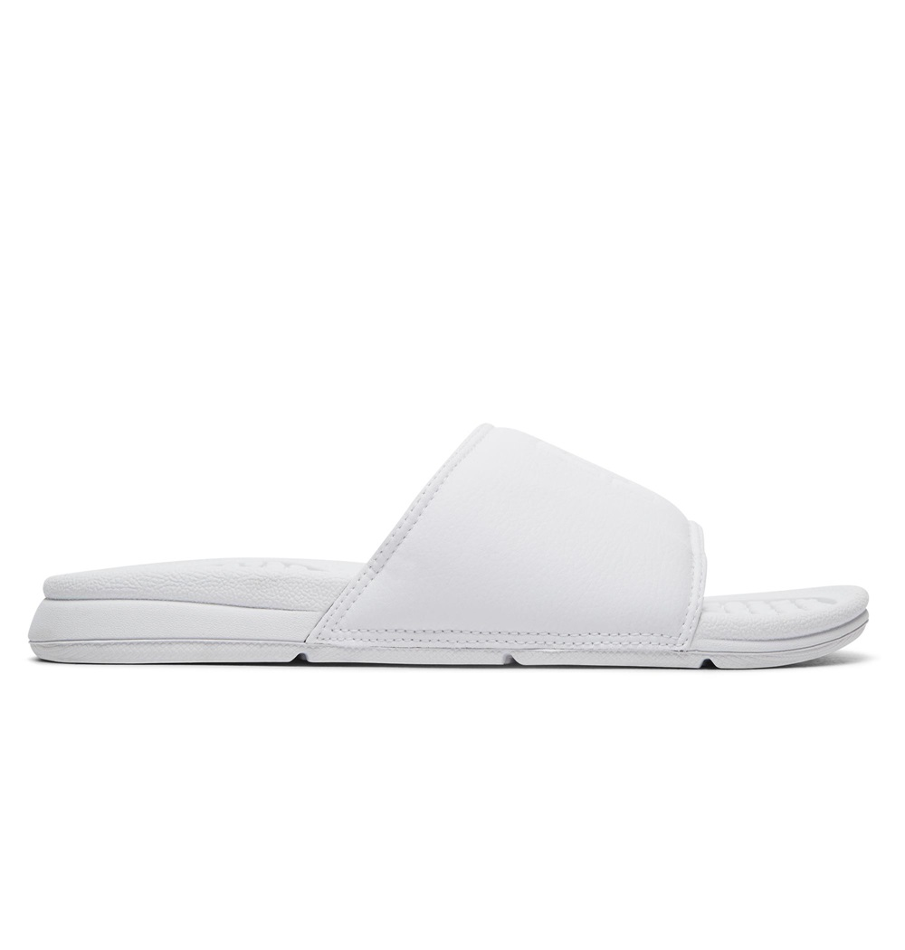 Chanclas Dc Shoes modelo Bolsa SE en color blanco para mujer