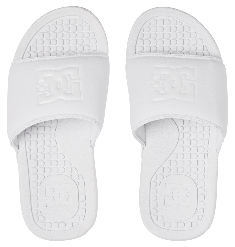 Chanclas Dc Shoes modelo Bolsa SE en color blanco para mujer-b