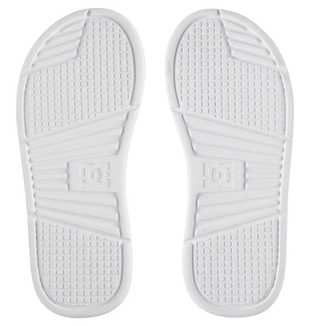 Chanclas Dc Shoes modelo Bolsa SE en color blanco para mujer-c