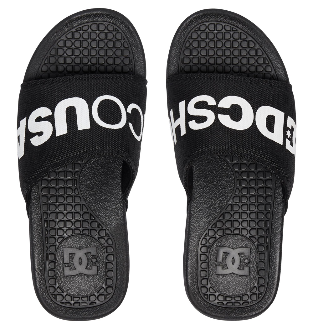 Chanclas Dc Shoes modelo Bolsa SP en color negro para hombre-b