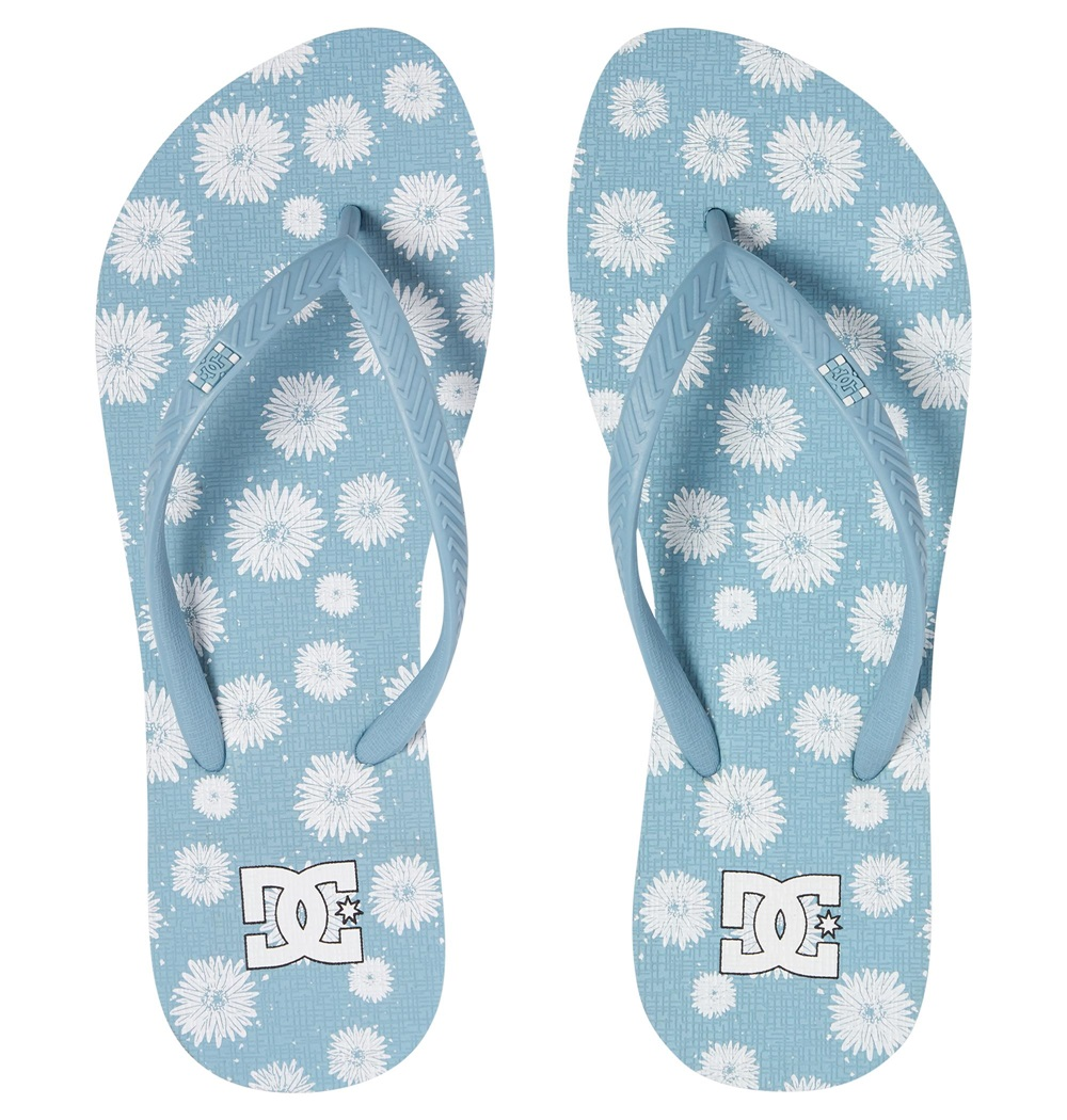 Chanclas Dc Shoes modelo Spray Graffik Sandal en color azul claro para mujer-b