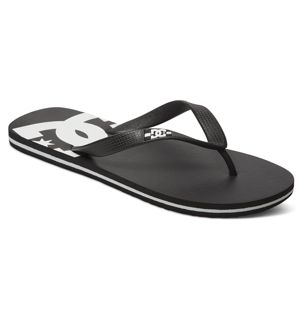 Chanclas Dc Shoes modelo Spray en color negro con blanco para hombre-d
